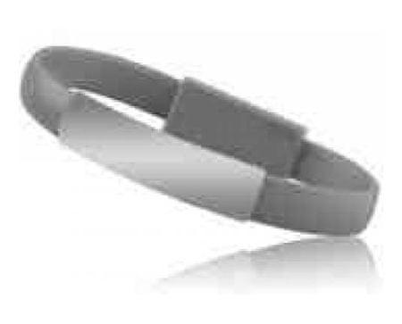 Havana micro USB podatkovni kabel, zapestnica, siv