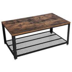 Artenat Konferenčný stolík Stella, 106,2 cm, hnedá/čierna