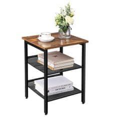 Artenat Odkladací stolík Ales, 55 cm, hnedá