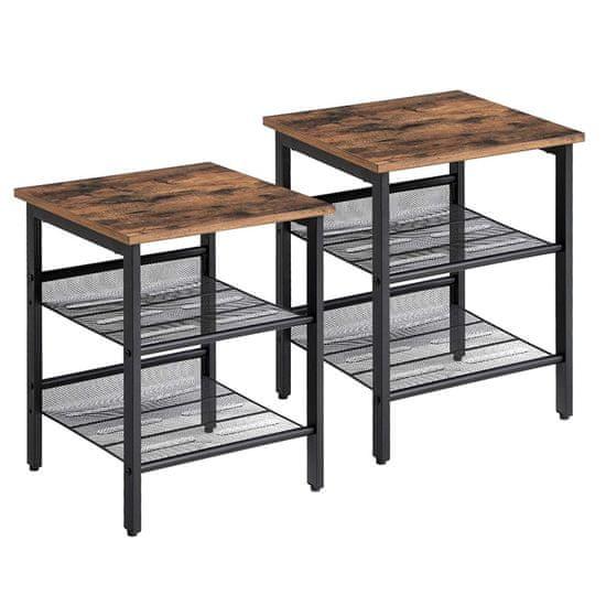 Artenat Odkladací stolík Ales (Súprava 2 ks), 50 cm, hnedá