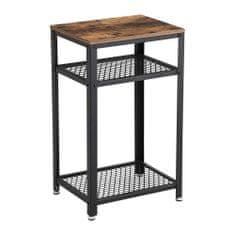 Artenat Odkladací stolík Stella, 75 cm, hnedá/čierna