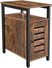 Artenat Odkladací stolík Stella I., 60 cm, hnedá/čierna