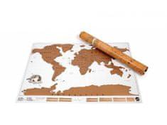 Alum online Veľká stieracie mapa sveta- biela