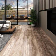 shumee Podlahová krytina PVC 5,02 m² 2 mm samolepicí bělené dřevo