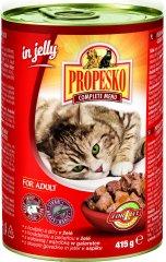 Propesko hrana za mačke goveje mačke, jetrca v želeju, 12x415 g