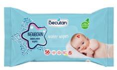 Becutan Aqua Pure vlažilni robčki, za novorojenčke, 56/1