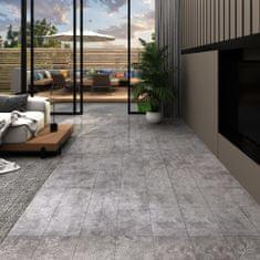 shumee Podlahová krytina PVC 5,02 m² 2 mm samolepicí betonová šedá