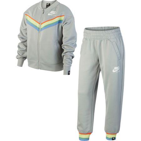 Nike komplet dresów dziewczęcych Sportswear Heritage, S szary