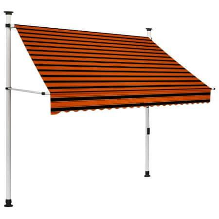 slomart Ročno zložljiva tenda 200 cm oranžna in rjava