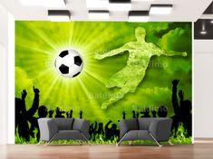 Murando DeLuxe Dětská tapeta - fotbal Rozměry (š x v) a Typ: 350x245 cm - vliesové