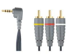 Bandridge Video kabel 3,5mm stereo, 2m, bvl4202