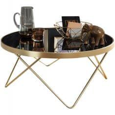 Bruxxi Konferenčný stolík Cala, 82 cm, čierna/zlatá