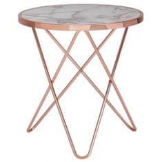 Bruxxi Odkladací stolík Galla, 57 cm, medená