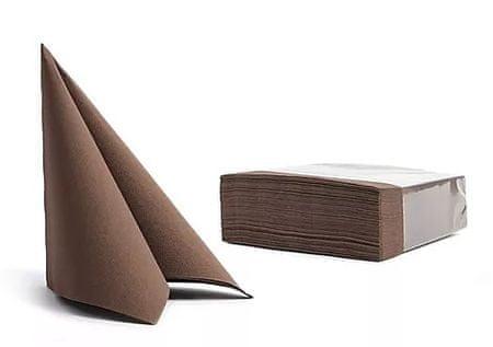 Pureba Soft Point servieti, 2-slojni, rjava, 38x38, 50 kos/pak.