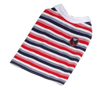 Kraftika T-shirt csíkos címer (stock clearance) - piros / kék xs