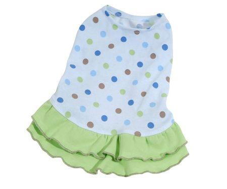 Kraftika Sukienka dottie - niebieski/zielony xs, sukienki