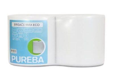Pureba ručnici Max Natur, 2-slojni, Eco, 800 list, 184 m, fi 6/25 cm, 2 role/pak.