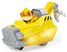 Spin Master zestaw Psi Patrol Świecący pojazd bohatera z dźwiękami - Rubble