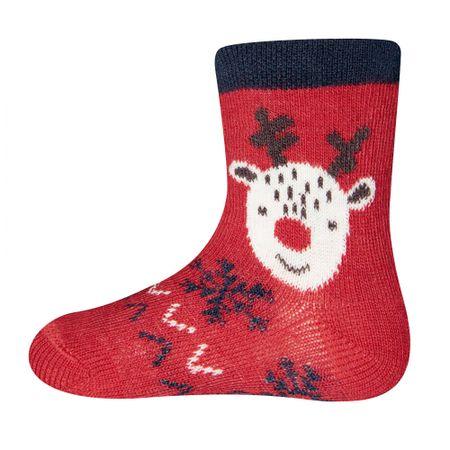 EWERS dječje čarape, crvena, 17-18