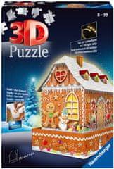Ravensburger 3D Puzzle 112371 Mézeskalács ház (Éjszakai változat) 216 darab