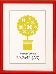 Karako Foto okvir 29,7x42 cm, plastika, stenski, 95 rdeč A3