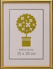 Karako Foto okvir 15x20 cm, plastika, namizni, stenski, 95 zlat
