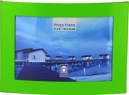 Karako Foto okvir 10x15 cm, kovina, namizni s tačko zelen