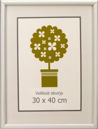 Karako Foto okvir 30x40 cm, plastika, stenski, 95 bel