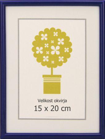 Karako Foto okvir 15x20 cm, plastika, namizni, stenski, 95 moder