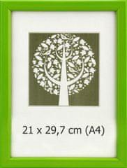 Karako Foto okvir 21x29,7 cm, plastika, stenski, 10-A zelena