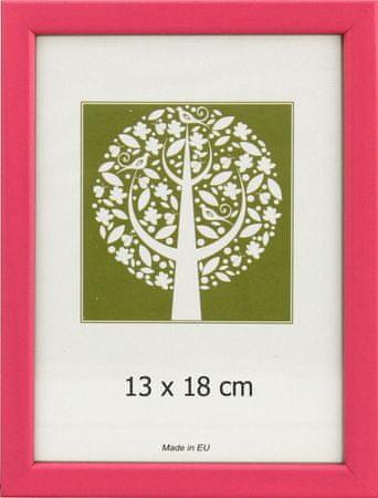Karako Foto okvir 13x18 cm, plastika, namizni, stenski, 10-A pink
