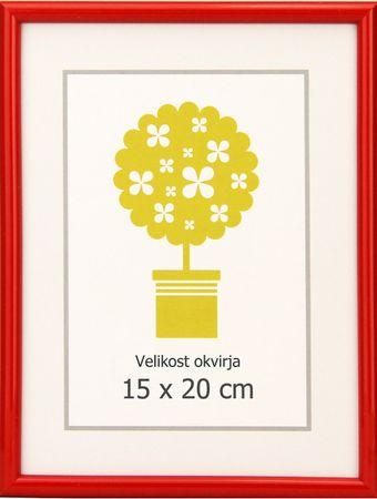 Karako Foto okvir 15x20 cm, plastika, namizni, stenski, 95 rdeč