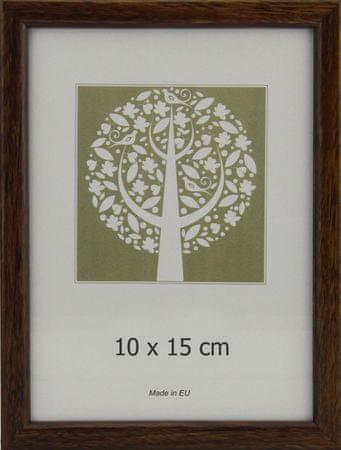 Karako Foto okvir 10x15 cm, plastika, namizni, stenski, 10-A rjav