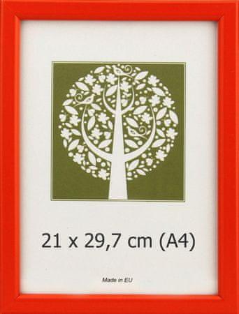 Karako Foto okvir 21x29,7 cm, plastika, stenski, 10-A oranžna