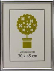 Karako Foto okvir 30x45 cm, plastika, stenski, 95 srebrn