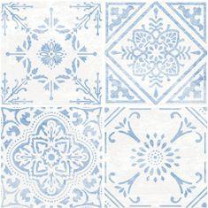 d-c-fix Samolepicí podlahové čtverce dlaždice modrobílé 2745053