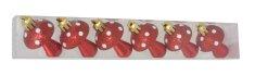 DUE ESSE komplet božićnih ukrasnih gljiva, 6 komada, plastika, 6 cm, crvena