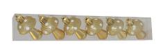 DUE ESSE komplet božićnih ukrasa, gljive, 6 komada, plastika, 6 cm, zlatne