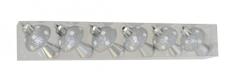 DUE ESSE komplet božićnih ukrasnih gljiva, 6 komada, plastika, visina 6 cm, srebrna