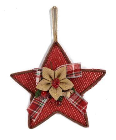 DUE ESSE božićna viseća zvijezda, tkanina, 28 cm