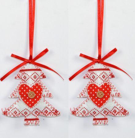 DUE ESSE 2 darabos karácsonyfa dekoráció készlet, fehér