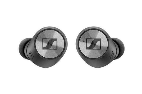 Bezprzewodowe słuchawki premium true wireless sennheiser momentum true wireless 2 potężne konwertery dynamiczny dźwięk bogaty w basy i szczegóły ochrona przed wodą ipx4 7 godzin działania etui z funkcją ładowania dla 3 pełnych ładowań kontrola aplikacji smart control app transparent hearing funkcja zestawu głośnomówiącego nie wymaga wyjmowania ich z uszu w celu komunikacji z otoczeniem anc tłumienie hałasu otoczenia wygoda dla uszu  sterowanie głosowe za pomocą siri i asystenta google