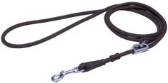 BAFPET vodilica za ogrlicu, mogućnost skraćivanja, srebrni karabin, smeđa