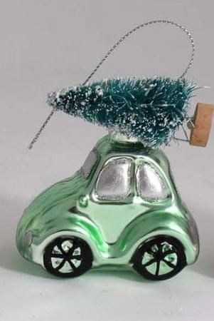 DUE ESSE auto z choinką 8 cm, zielony