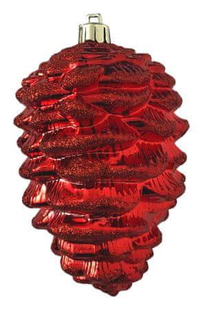 DUE ESSE komplet božičnih okraskov, borov stožec, 13 cm