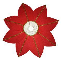 DUE ESSE osłona na stojak choinkowy, czerwona, Ø 98 cm