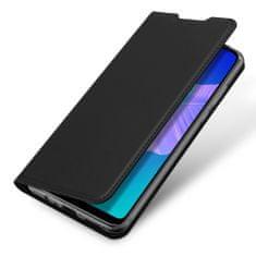 Dux Ducis Skin Pro knížkové kožené pouzdro na Huawei P40 Lite E, černé