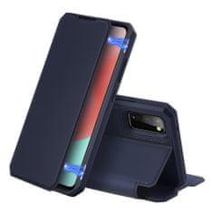 Dux Ducis Skin X knižkové kožené puzdro na Samsung Galaxy A41, modré