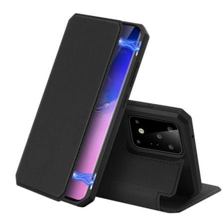 Dux Ducis Skin X usnjeni flip ovitek za Samsung Galaxy S20 Ultra, črna