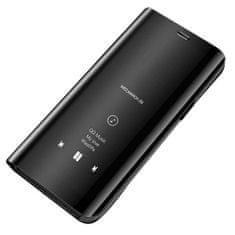 MG Clear View knížkové pouzdro na Samsung Galaxy M21, černé